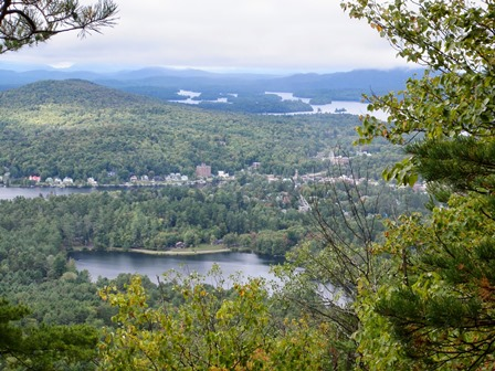 Saranac Lake village as seen from Baker.